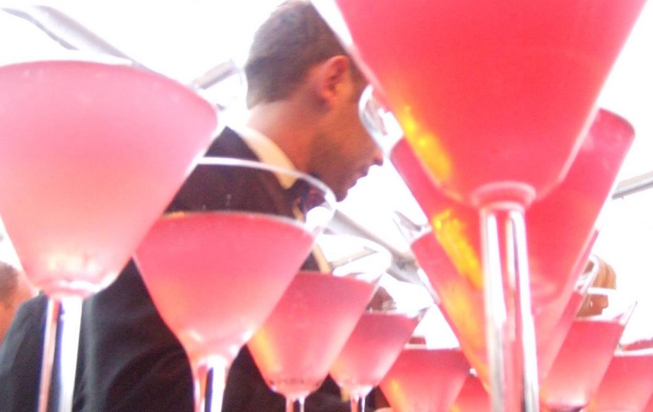 Cosmopolitans served by Mambo Mobile bar hire