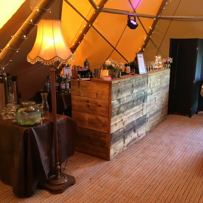 tipi wedding bar hire