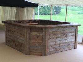 Hexagonal wooden bar