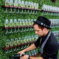 Prosecco and bubbly wall hire