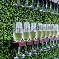 Prosecco wall and bubbly for wedding hire