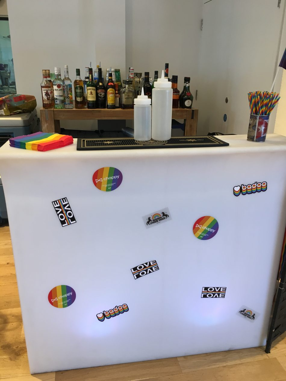 Corporate branded event bar hire