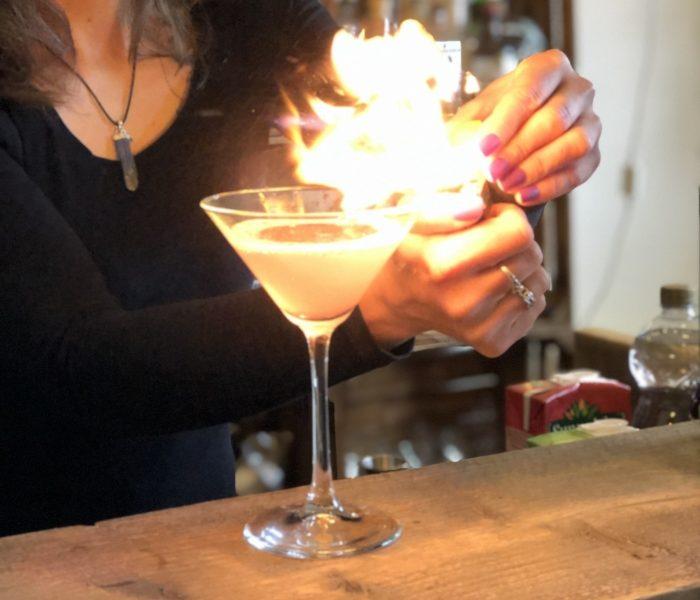 Cosmopolitan set on fire for a fiver star bar service
