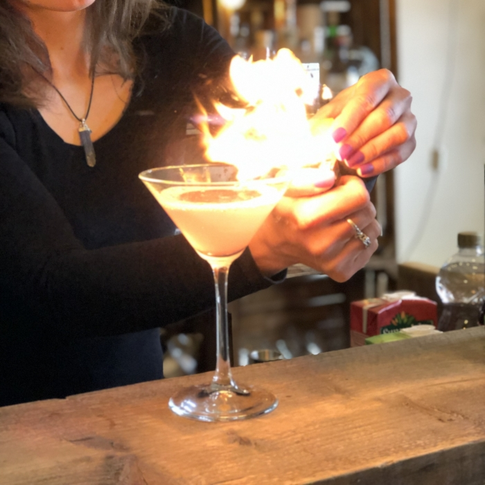 Cosmopolitan set on fire for a fiver star bar service